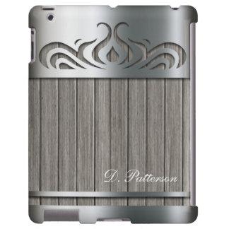 Elegant Silver Metal Cutout with Ash Gray Barnwood