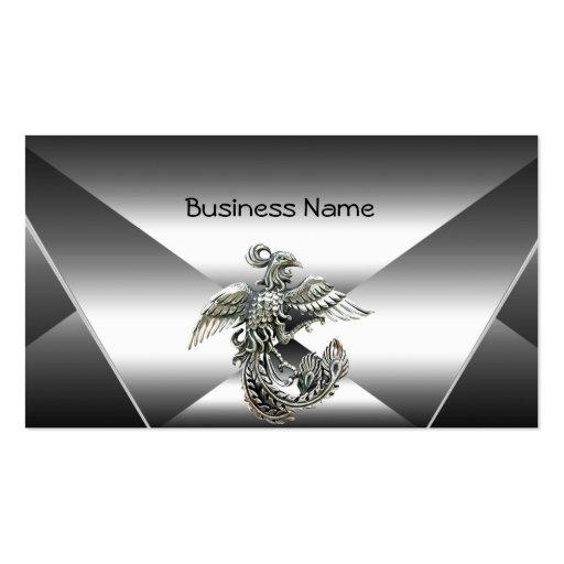 Elegant Silver Metal Look Chrome Jewel Business Business Card