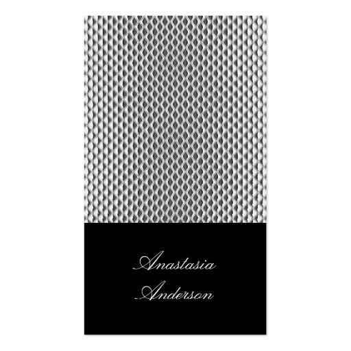 Elegant Silver Metal Profile Card Business Cards