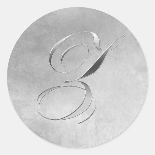 Elegant Silver Monogram Z Wedding Sticker