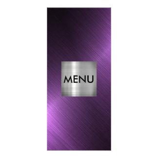 Elegant Silver Purple Black Menue Chic Rack Card