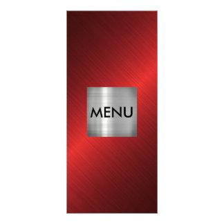 Elegant Silver Red Black Menue Chic Rack Card