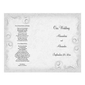 Elegant Silver Scrollwork Wedding Program