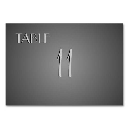 Elegant Silver Table Number Placecards Table Card