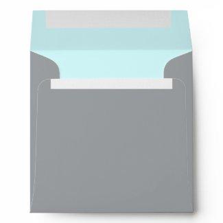 Elegant Silver Teal Blue Linen Envelopes