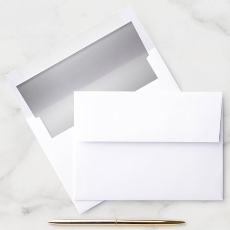 Elegant Silver Tone Wedding | Anniversary Envelope Liner