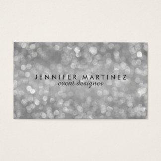 Elegant Silver Tones Glitter & Sparkles Business Card