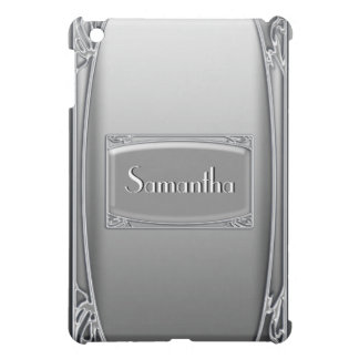 Elegant silver vintage frame iPad mini cover