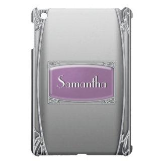 Elegant silver vintage purple iPad mini cases