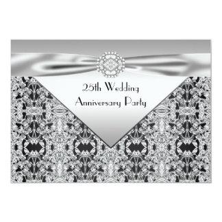 Elegant Silver Wedding Anniversary Party Custom Invitations