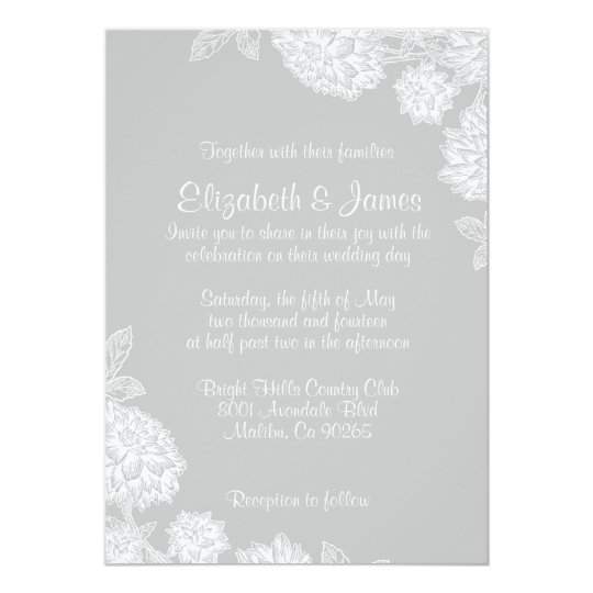 Elegant Silver Wedding Invitations