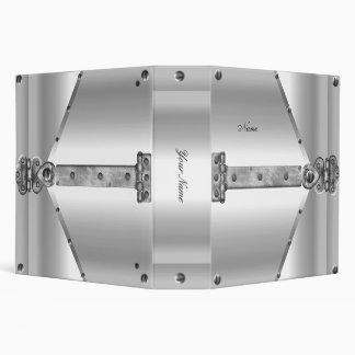 Elegant Silver White Metal Lock Hinge 3 Ring Binder