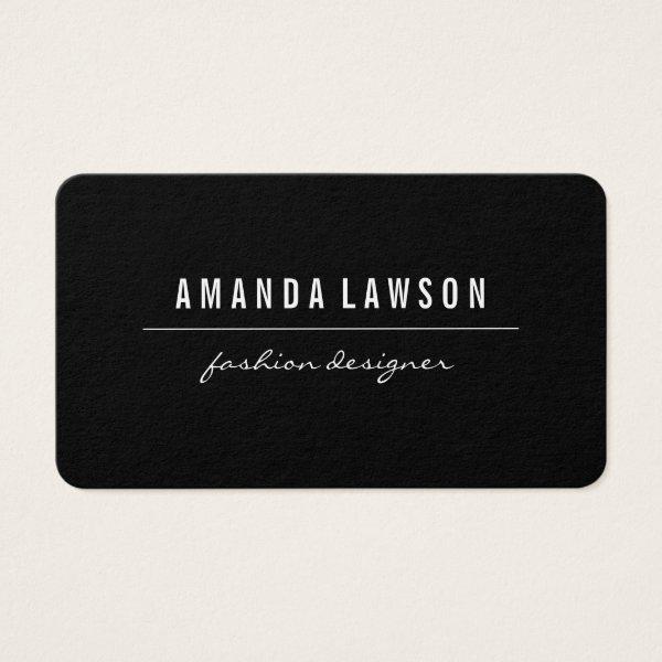 Elegant Simple Black Business Card
