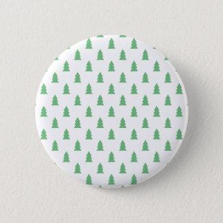 Elegant Simple Christmas tree pattern pastel green Pinback Button