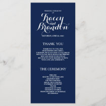 Elegant Simple Custom Wedding Program