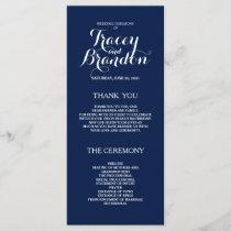 Elegant Simple Custom Wedding Program