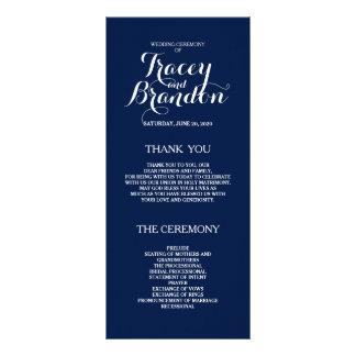 Elegant Simple Custom Wedding Program Rack Card