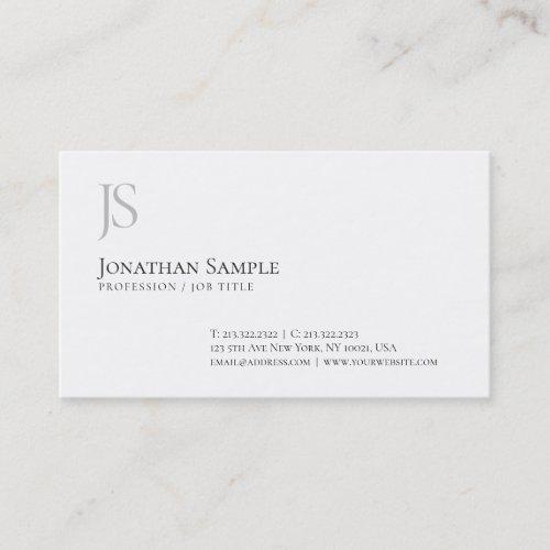 Elegant Simple Design Monogram Professional Chic Business Card