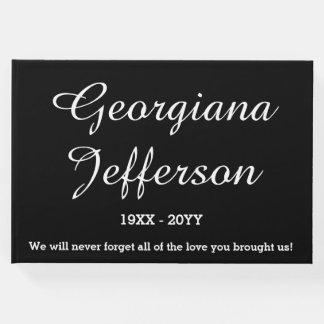 Elegant & Simple Funeral Memorial Guestbook