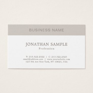 Elegant Simple Graphic Design Modern Plain Trendy Business Card