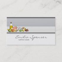 Elegant Simple Grey Healthy Life/Nutritionist Card