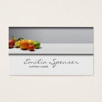 Elegant Simple Grey Healthy Life/Nutritionist Card