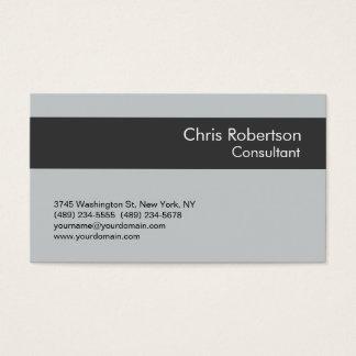Elegant Simple Grey Stripe Standard Business Card