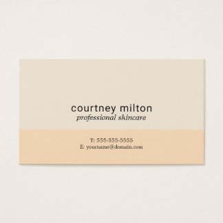 Elegant Simple Pastel Beauty Consultant Business Card