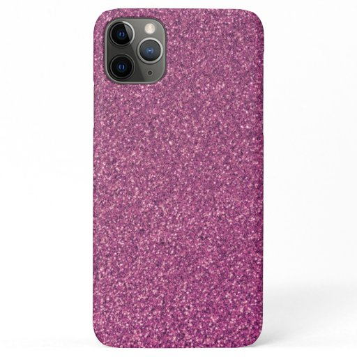 Elegant Simple Pink Girly Sparkle Glitter iPhone 11 Pro Max Case