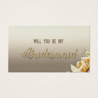Elegant Simple RosesWill you be my bridesmaid Card