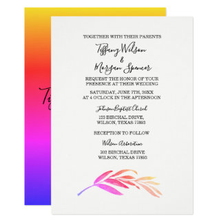 Elegant Simple Script Same-sex wedding invite