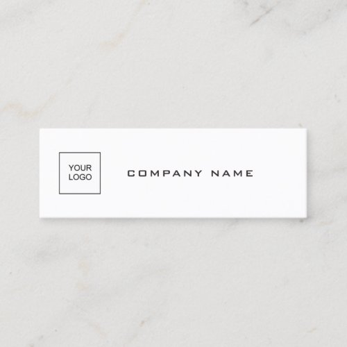 Elegant Simple Template Add Your Logo Company Chic Mini Business Card