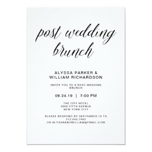 Post Wedding Brunch Invitations Announcements Zazzle