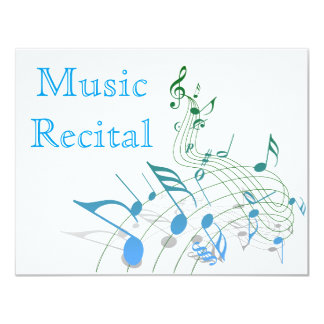 Elegant Simple Unisex Music Recital Invitations