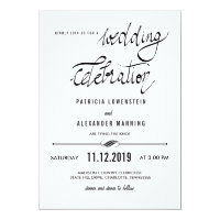 Elegant Simple Wedding Celebration Typography Card