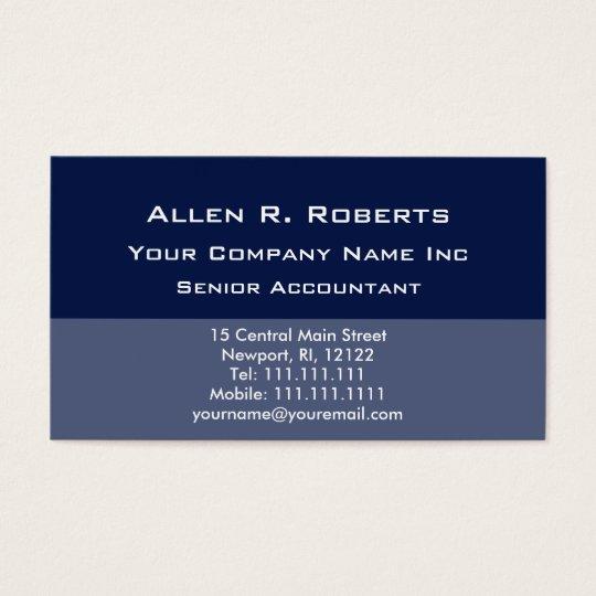Elegant Simplicity Corporate Blue Clean Lines Business Card