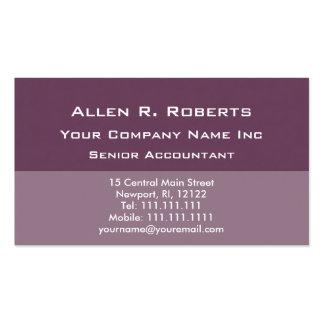 Elegant Simplicity Corporate Soft Plum Basic Business Card