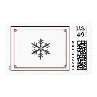 Elegant Single Snowflake Stamp