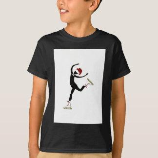 Elegant Skater with Santa Hat T-Shirt