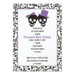Elegant skulls Halloween wedding bridal shower Personalized Announcements