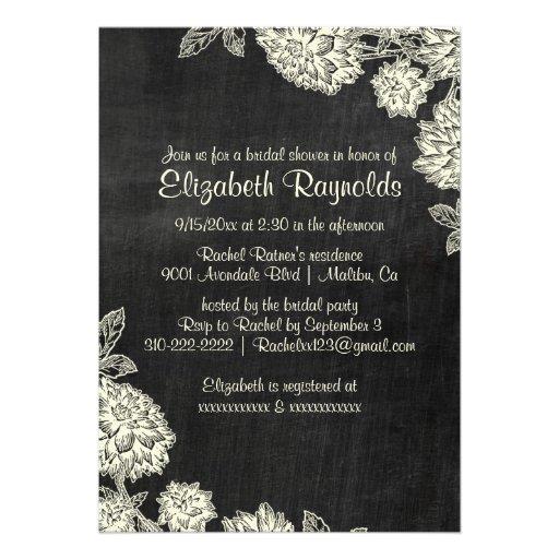 Elegant Slate Bridal Shower Invitations Personalized Invitation