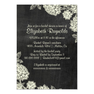 Elegant Slate Bridal Shower Invitations