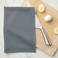 Elegant Slate Gray Family Monogram Hand Towel