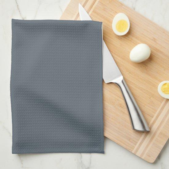 Elegant Slate Gray Family Monogram Kitchen Towel