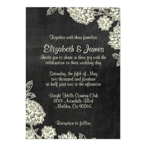 Elegant Slate Wedding Invitations Personalized Invites