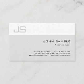Elegant Sleek Professional Unique Monogram Plain Business Card