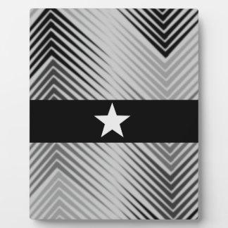 Elegant Sliver Star Plaque