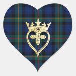 Elegant Smith Plaid Heart Wedding Sticker