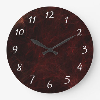 Elegant Smoke and Fire Abstract Design Large Clock