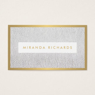 Elegant Snakeskin Print for Fashion Blogger Business Card